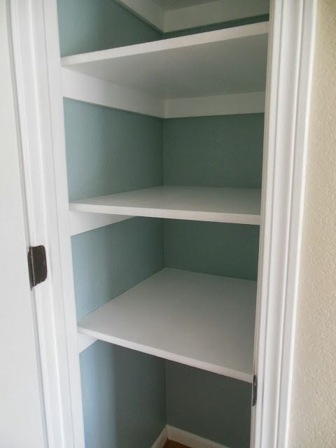 Paint inside of pantry | Pantry Makeover | Benjamin Moore Wedgewood Grey