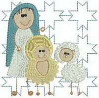 CE180 - Nativity2 Quilt Blocks http://tinyurl.com/zjfexyz