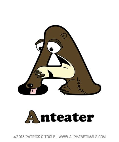 Anteater - Alphabetimals make learning the ABC's easier and more fun! http://www.alphabetimals.com