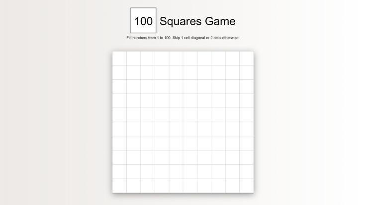 100 Squares Game