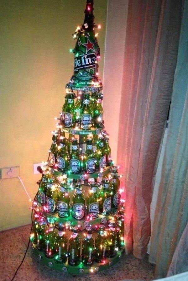Christmas Beer Tree.