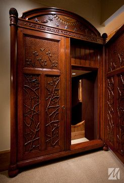 Just an idea of how to enter the slide: The wardrobe to Narnia! 03 - Park City, Utah Residence - traditional - kids - salt lake city - Magleby Construction