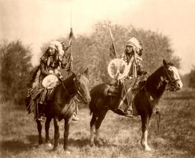 ~The Sioux are a confederacy of several tribes that speak three different dialects, the Lakota, Dakota and Nakota. The Lakota, also called the Teton Sioux, are comprised of seven tribal bands and are the largest and most western of the three groups, occupying lands in both North and South Dakota. The Dakota, or Santee Sioux, live mostly in Minnesota and Nebraska, while the smallest of the three, the Nakota, primarily reside in South Dakota, North Dakota and Montana~