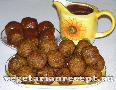 Индийское овощное блюдо - шарики из цветной капусты и картофеля, фото-рецепт