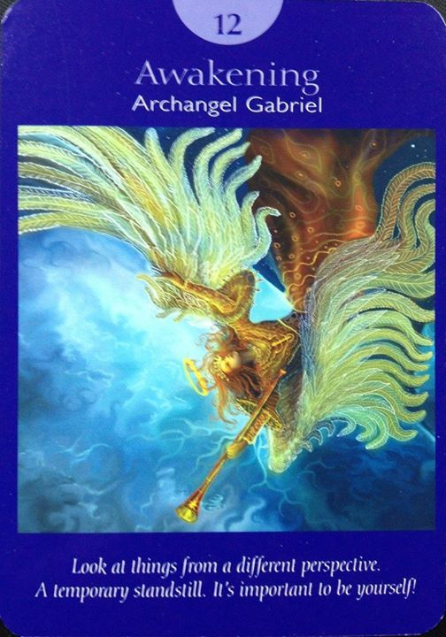 Grateful Monday my friends!  Here is your Mon/Tues card...Awakening.  This is a major arcana card.  Reminder - you will feel these life turns.  If you go with the flow it will feel exciting.  If you fight this change it may be very tiring.  AA Gabriel is here heralding messages of new things.  You may see a current situation in a new perspective.  There may be a temporary stand still.  If you are going with the flow you will see this as time to allow this new perspective to digest or…