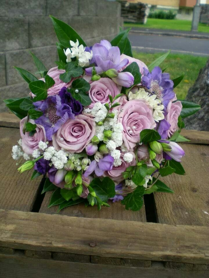 Bridal bouquet  Wedding  Purple mix