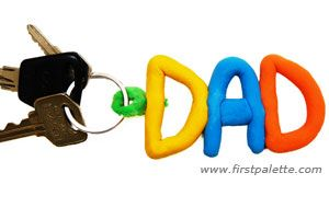 Fathers day crafts - Name Clay Keychain craft