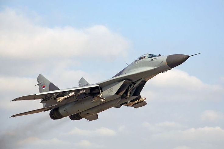 "british-eevee: "" Serbian MiG-29 in flight """