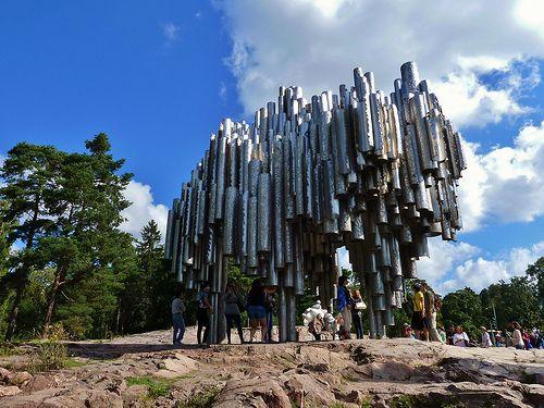 Sibelius monument,Helsinki,Finland