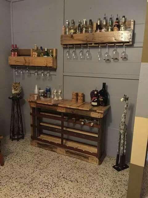 74 best muebles en palets los inventos de luis images - Muebles de bar ...