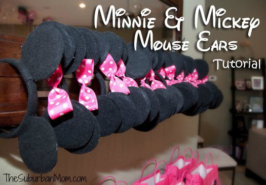 minnie mouse handmade party ideas | How to Make Mickey Minnie Mouse Ears for a Party! | TheSuburbanMom