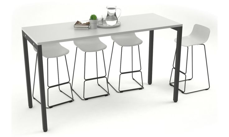 Counter Height Office Cafeteria / Bar Table - Black Leg - 4
