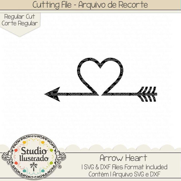 Arrow Heart, Arrow, Heart, coração, love, amor, dia dos namorados, Valentine´s day, São Valentin, setas, flecha, flechas, seta, setas, arrow, arrows, wild, selvagem, arquivo de recorte, corte regular, regular cut, svg, dxf, png, Studio Ilustrado, Silhouette, cutting file, cutting, cricut, scan n cut.