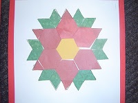 Pattern Block Poinsettia. Can use with The Legend of the Poinsettia