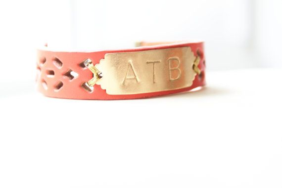 Hey, I found this really awesome Etsy listing at http://www.etsy.com/listing/108027240/personalized-bracelet-monogram-leather