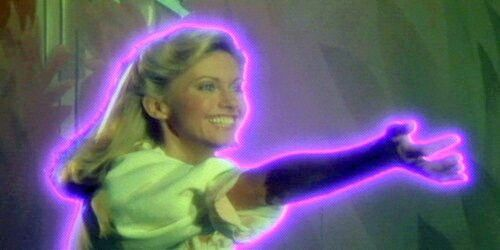 Olivia Newton-John as the Goddess in  XANADU #ELO #70s #retro #rollerskates  Visit https://iconiclight.wordpress.com for reviews and articles about music and culture.