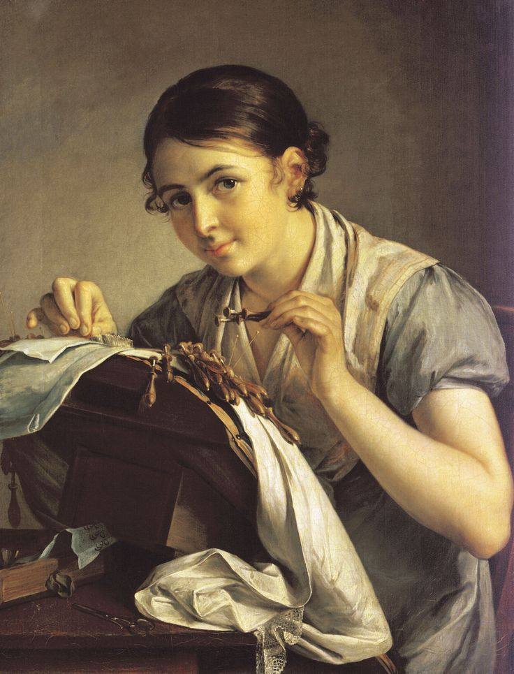 "Lacemaker Vasily Andreyevich Tropinin (1776-1857). (""Кружевница"")"