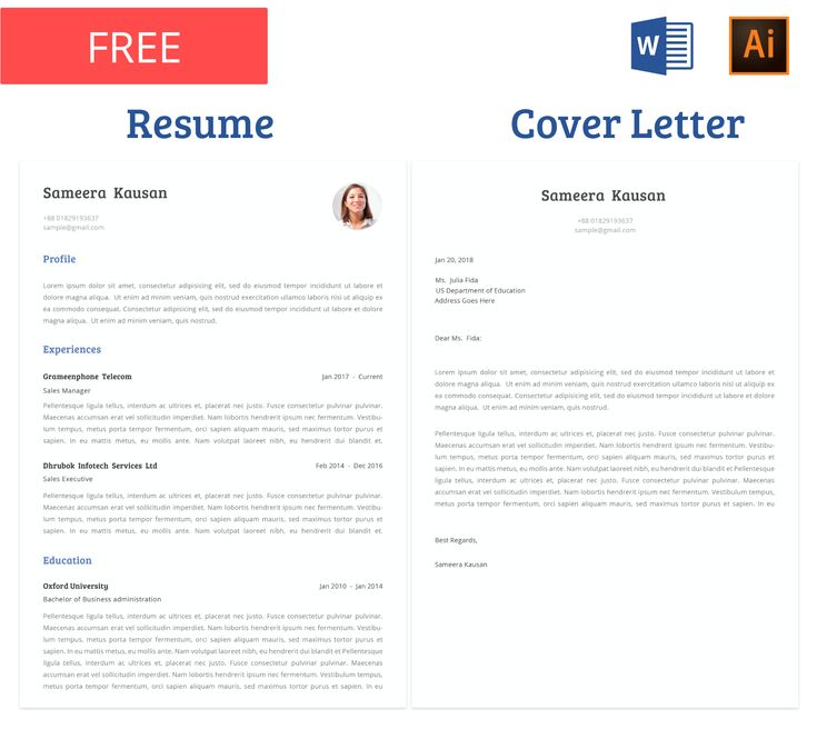 free resume template with cover letter  you can edit the