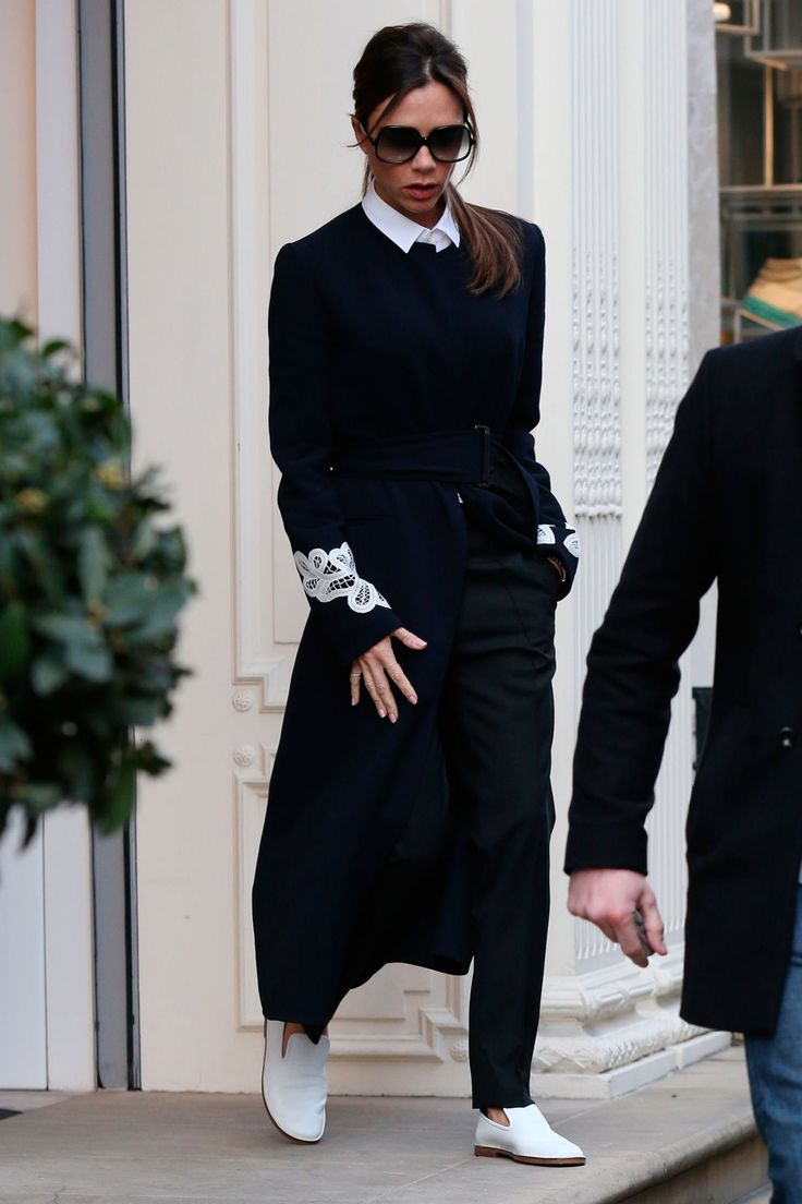Victoria Beckham wears light-up trainers