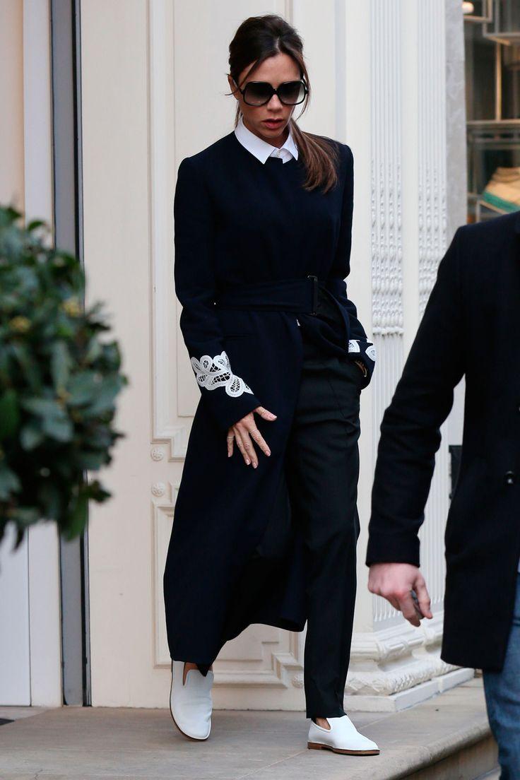 Victoria Beckham wears light-up trainers