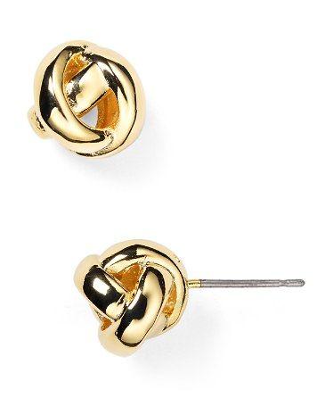 kate spade new york Dainty Sparklers Knot Stud Earrings | Bloomingdale's
