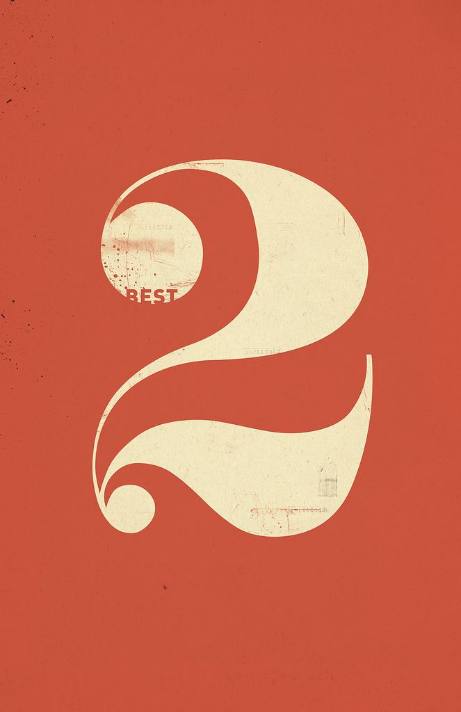 #2 #number #typography #modern #design #orange #yellow