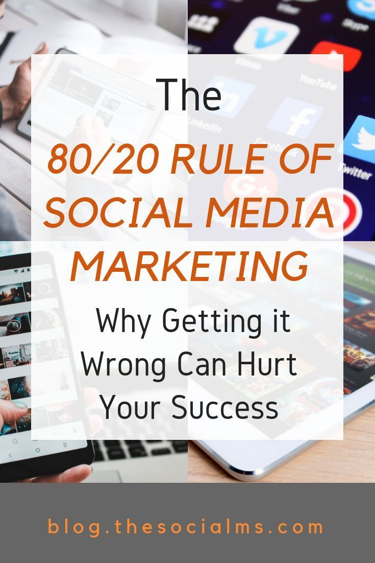 The 80/20 rule of social media marketing is an impportant factor for marketing s…