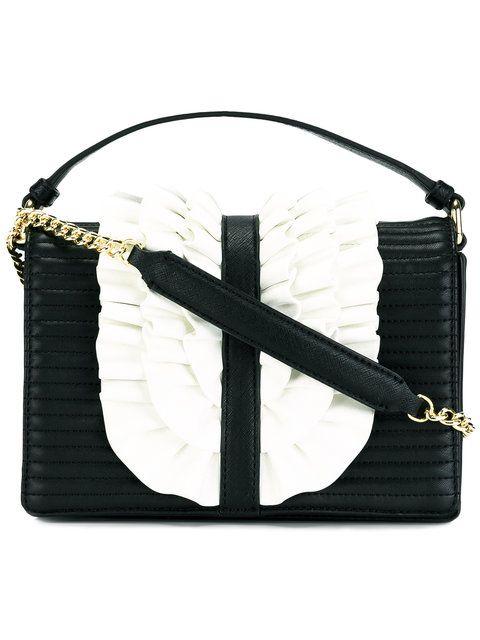 Boutique Moschino ruffled trim shoulder bag