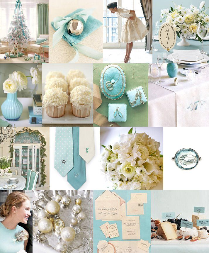 Duck Egg Blue Christmas Wedding Ideas