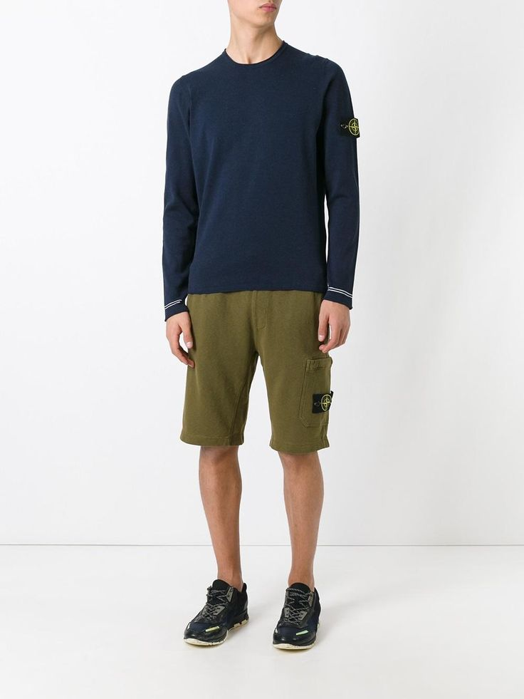 Stone Island jersey track shorts