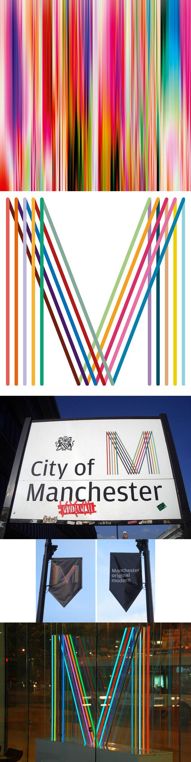 Logo for the city of Manchester, England, by Peter Saville. Логотип Манчестера, Англия, дизайнер Питер Сэвилл. #city_brand 2010
