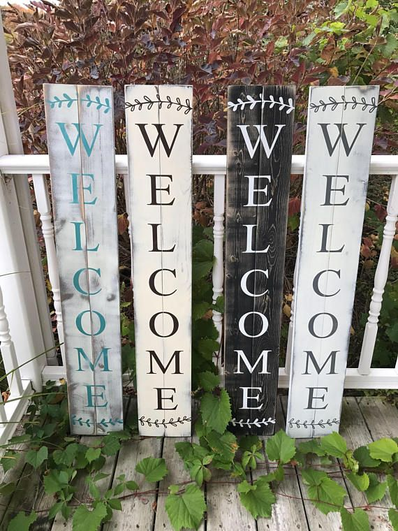 Rustic Welcome Sign Large Porch Welcome Sign Modern Etsy Porch Welcome Sign Wooden Welcome Signs Porch Signs