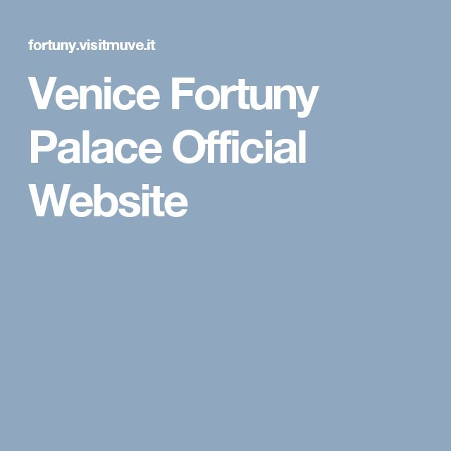 Venice Fortuny Palace Official Website