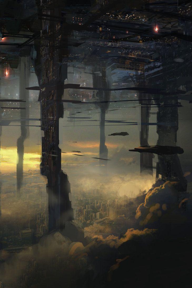 scifi city by rafaelkowalski.deviantart.com on @DeviantArt