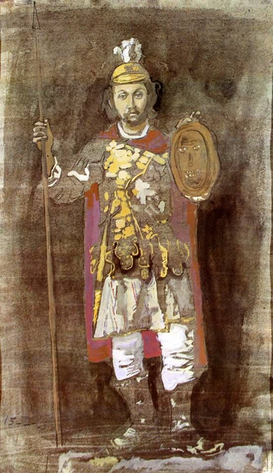 Giannis Tsarouchis - Painter Theofilos dressed as Alexander the Great