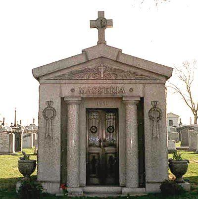 "Grave Marker- JOSEPH "" JOE THE BOSS "" MASSERIA    Birth: 1879  Death: Apr. 15, 1931    Gangster. Murdered by four mafia gunmen: Albert Anastasia, Vito Genovese, Joe Adonis and Benjamin Siegel. Joseph (Joe the Boss"