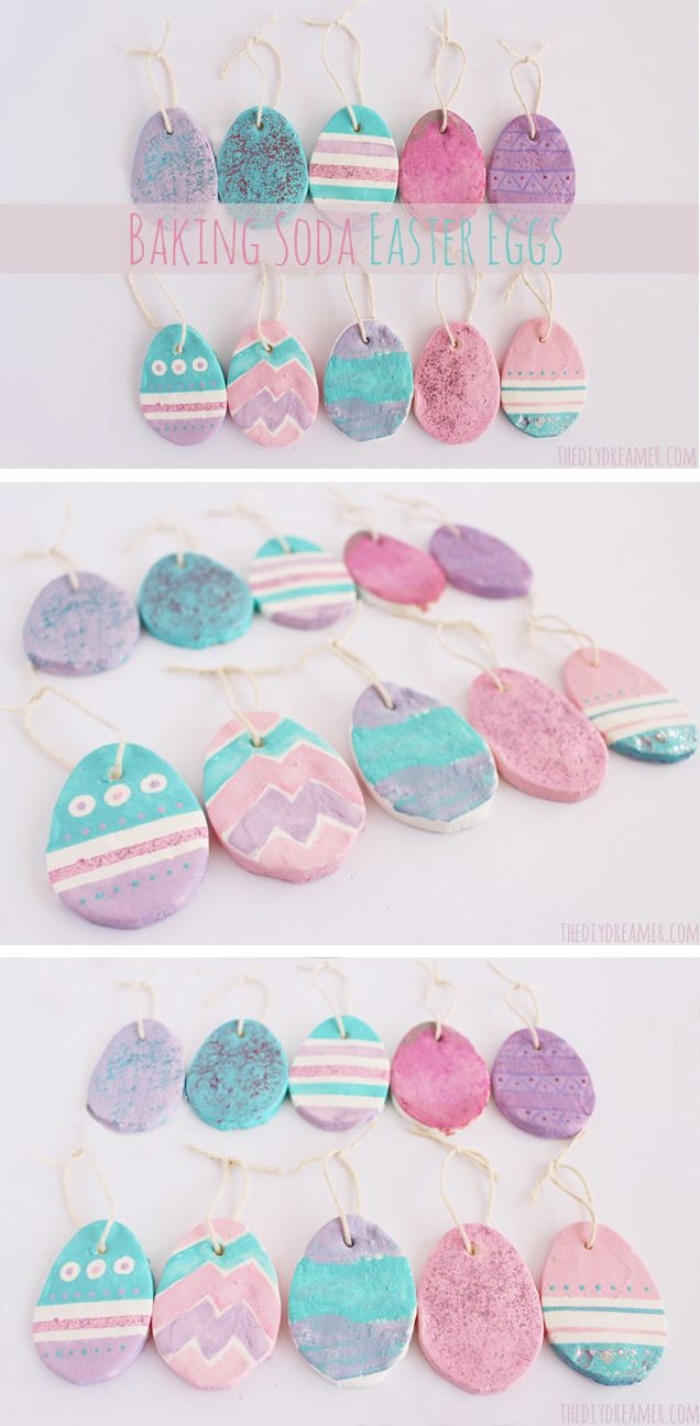 Baking Soda Easter Eggs Ornaments - Easter Crafts - #Easter #Eastercrafts #Eastereggs - thediydreamer.com