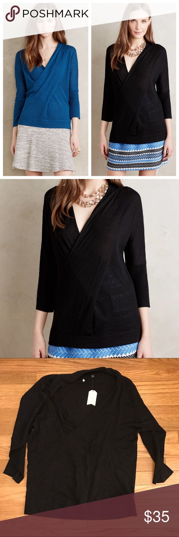 Anthropologie Seren Pullover, sz XL By Knitted and Knotted. NWOT (has a partial tag but the other fell off!) black colorway for sale Anthropologie Sweaters