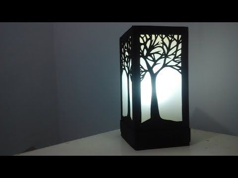 Diy Cara Membuat Lampu Tidur Keren Dari Kertas Karton Youtube Lampu Tidur Lampu Kertas Lampu