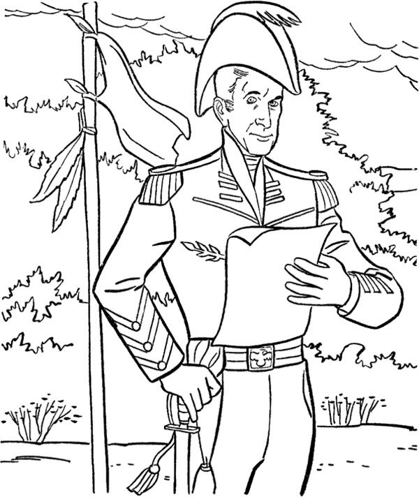 President Jhon Tyler Coloring Pages