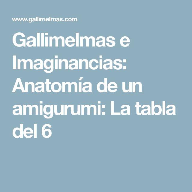 Gallimelmas e Imaginancias: Anatomía de un amigurumi: La tabla del 6