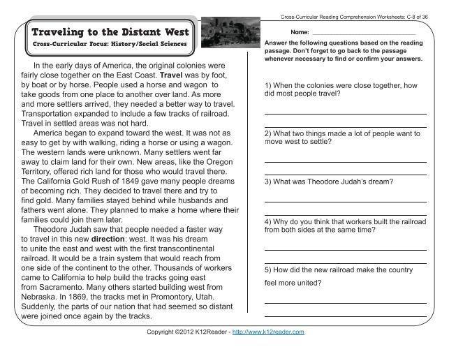 31++ Cross curricular reading comprehension worksheets Popular