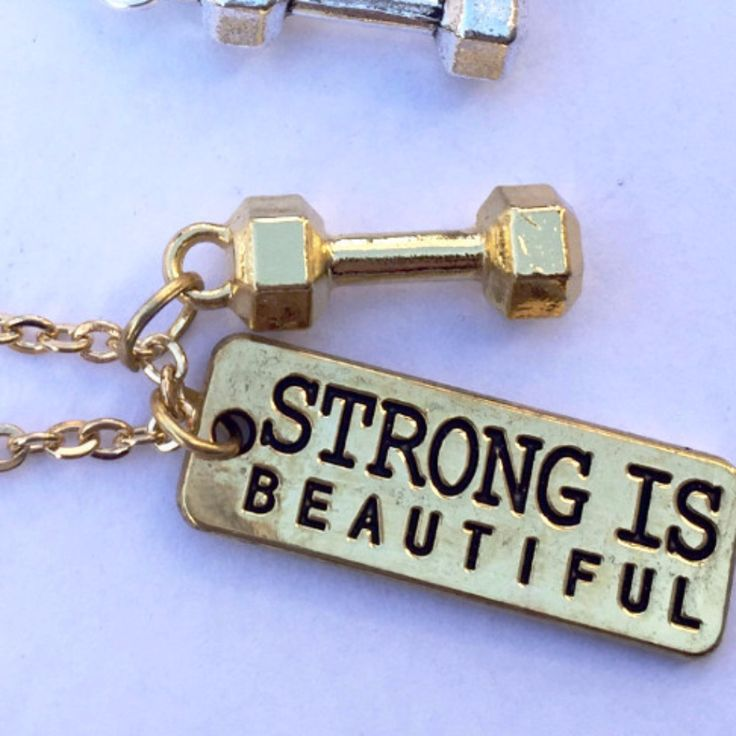 Strong Is Beautiful Necklace (18K Gold, 18K Rose Gold)