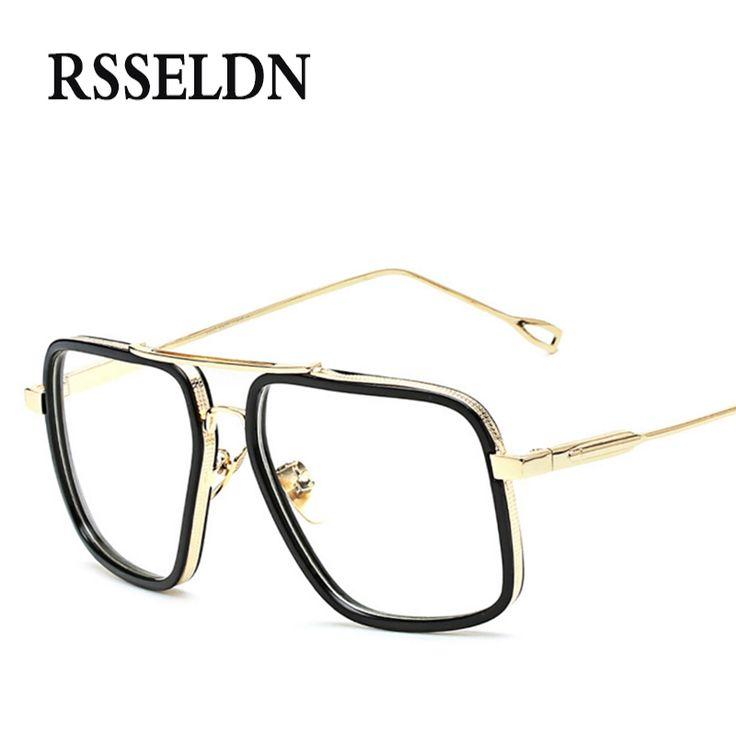 RSSELDN New Very Large Women Eyeglasses Frames Classic Brand Designer Glasses Frame Men Trendy Lunettes Vintage UV400