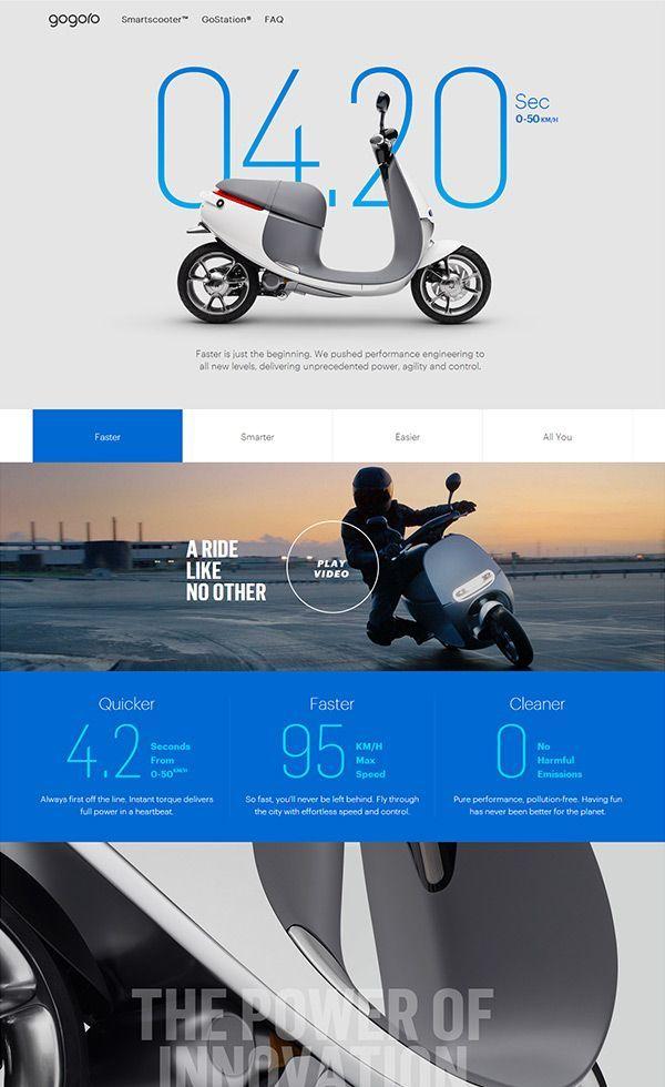 Gogoro Web Design Clip L Landing Page Web Design Clip In 2020 Portfolio Web Design Minimal Web Design Web Development Design