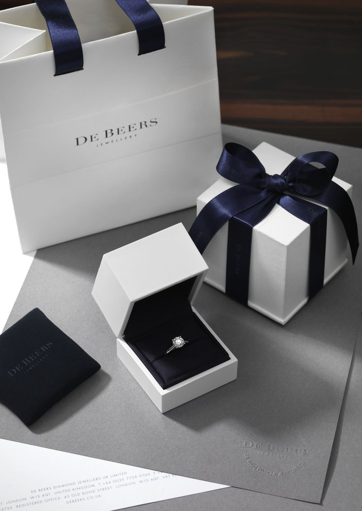 Forget the blue Tiffany box, I'd die over this white & blue Debeers box any day!