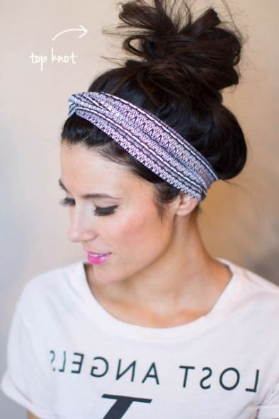 69+ The best ideas for wearing headbands hairstyles messy buns top note ...
