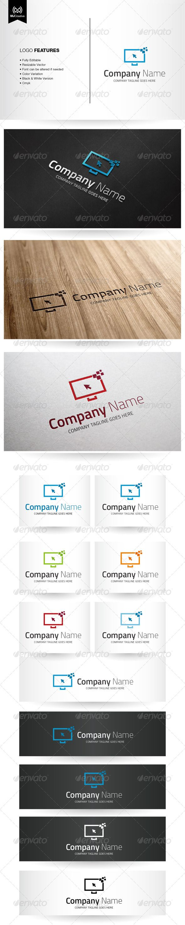 Digital And Technology Screen  - Logo Design Template Vector #logotype Download it here: http://graphicriver.net/item/digital-and-technology-screen-logo/5596041?s_rank=11?ref=nesto