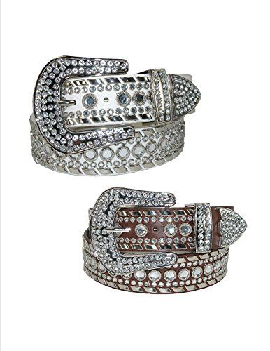 Lots of Rhinestones - Western Belt for Women Eliebelts,Small up to 32,sliver Made by #CTM Color #Silver. Western Rhinestone Belt by CTM�. Buckle, keeper and tip are adorned with beautiful clear Rhinestones. 1-1/2 inch wide Western Rhinestone belt is stylish and highly fashionable. Large clear rhinestones run the length of the belt along with 2 rows of small rhinestones