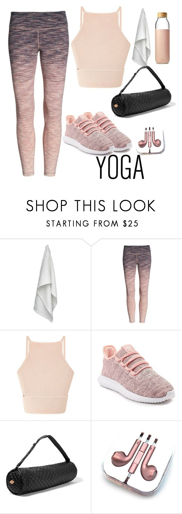 """""""Yoga time"""" by paulitamarmal ❤ liked on Polyvore featuring The Organic Company, Zella, adidas, M Z Wallace, PhunkeeTree and Soma"""